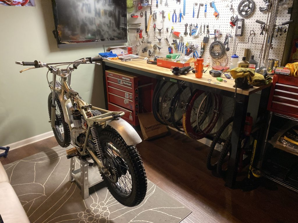 sl125 in basement workshop