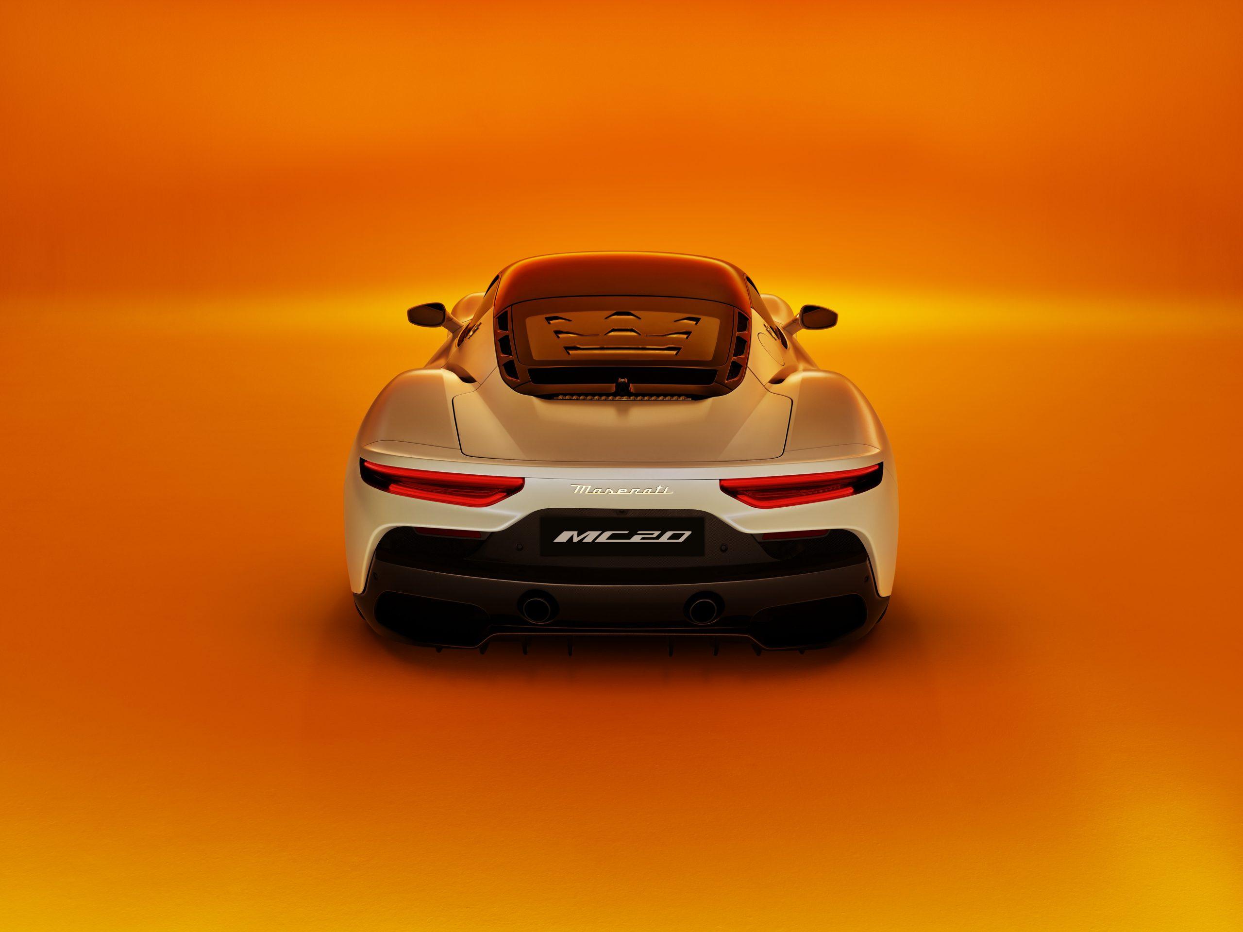 Maserati MC20 rear orange