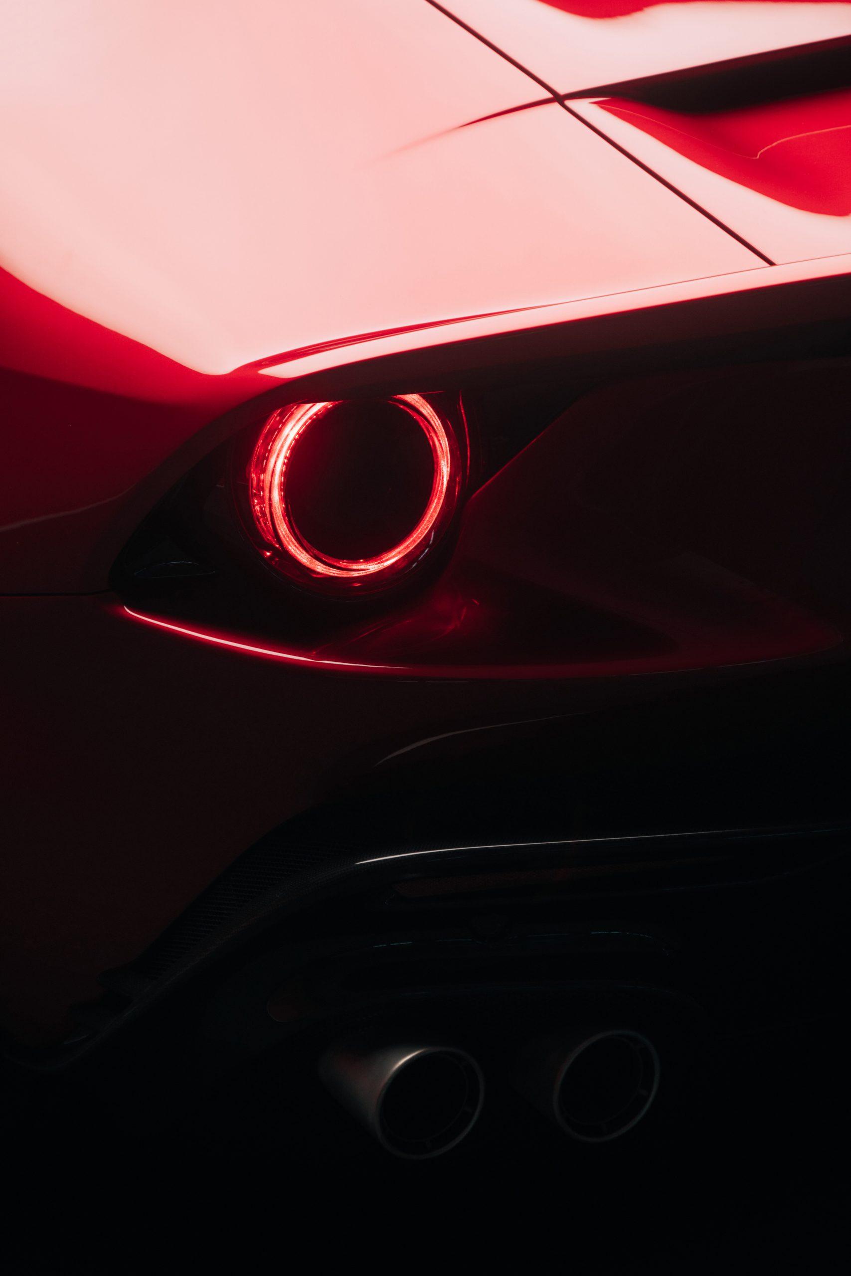 ferrari omologata supercar tail light detail