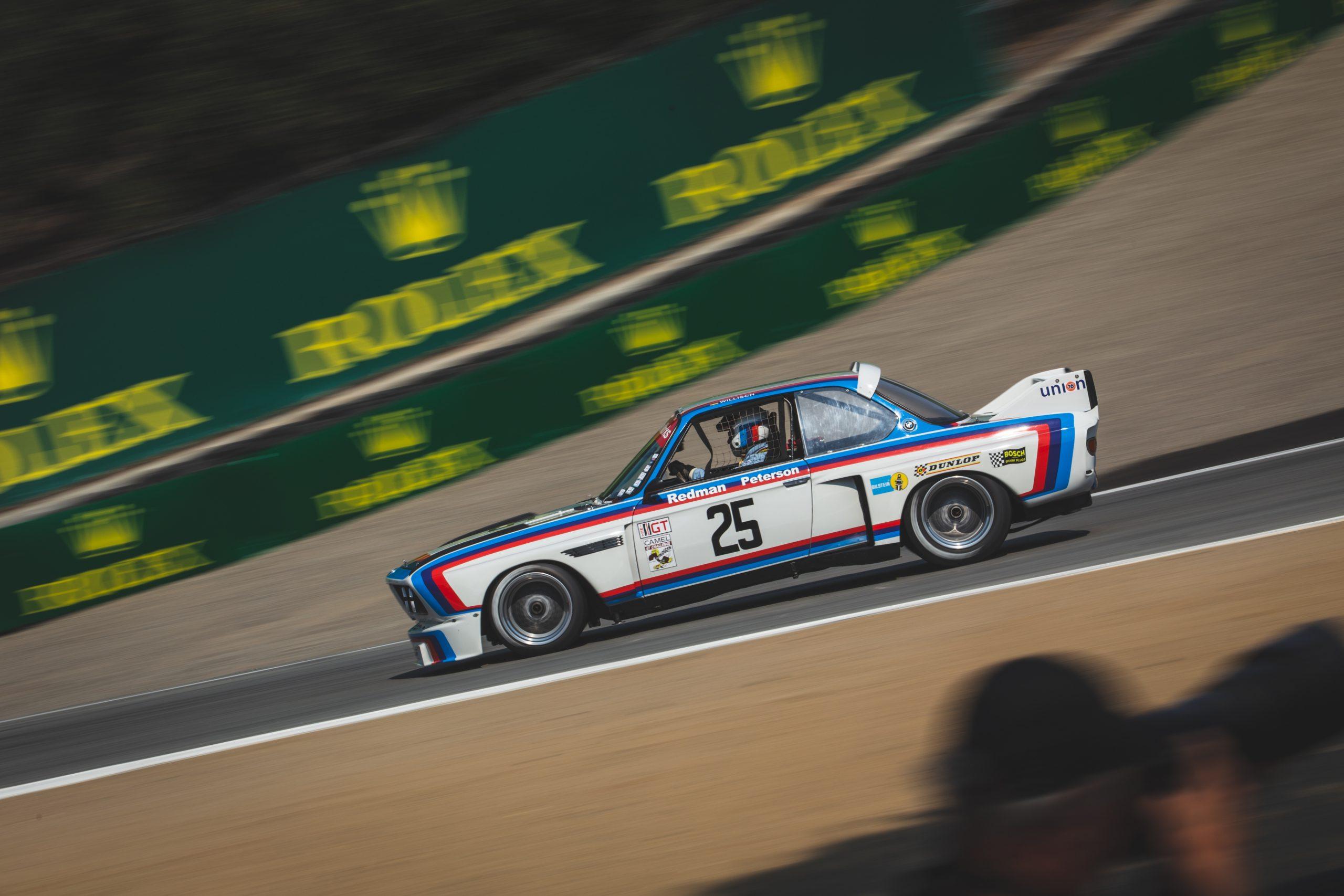 Laguna Seca BMW 3.0 CSL Batmobile track driving