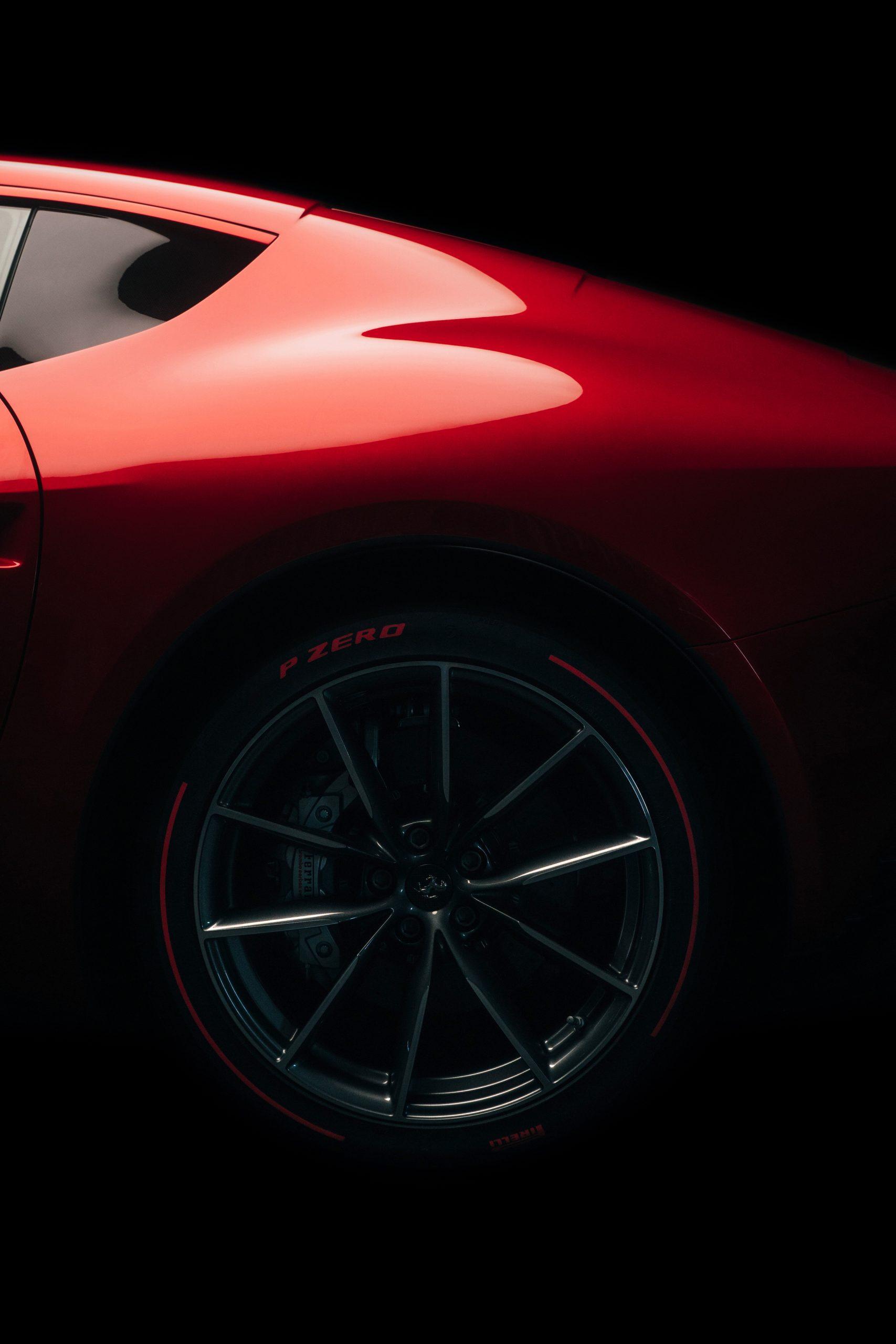 ferrari omologata supercar rear wheel