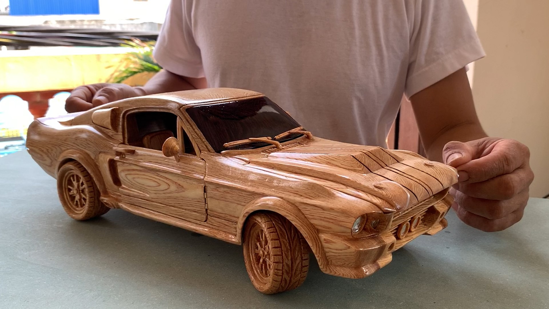 Your moment of zen: Hand-carved 1967 Ford Mustang GT500