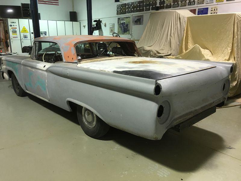1959 Ford Galaxie Skyliner restoration before
