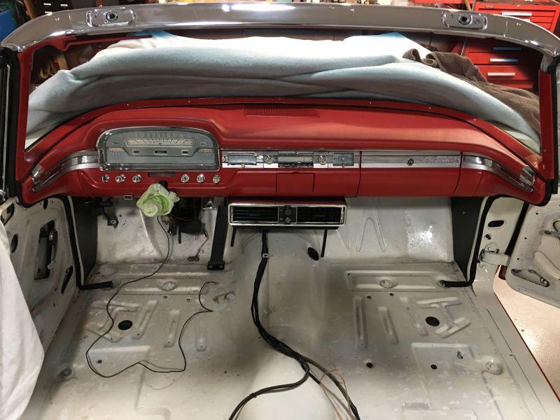 1959 Ford Galaxie Skyliner restoration dash