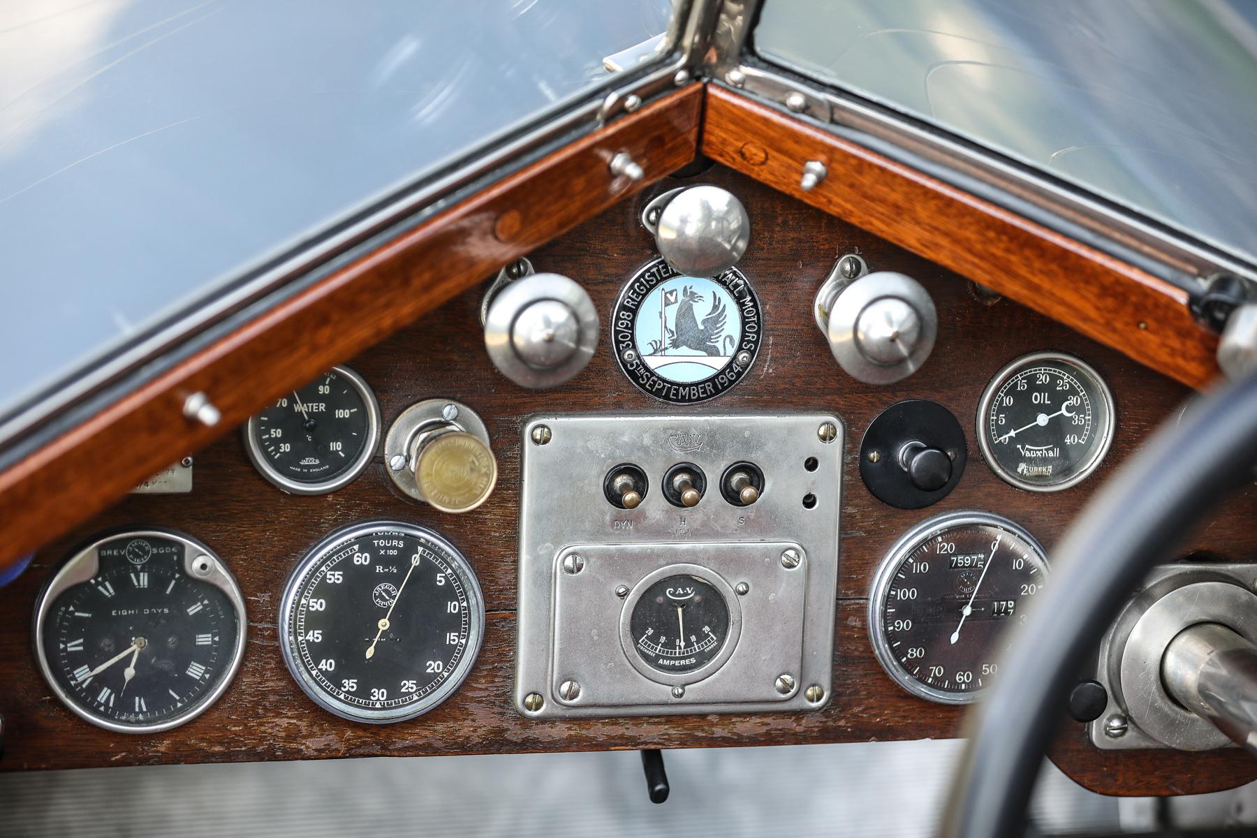 1924 Vauxhall 30-98 Type OE Wensum instruments