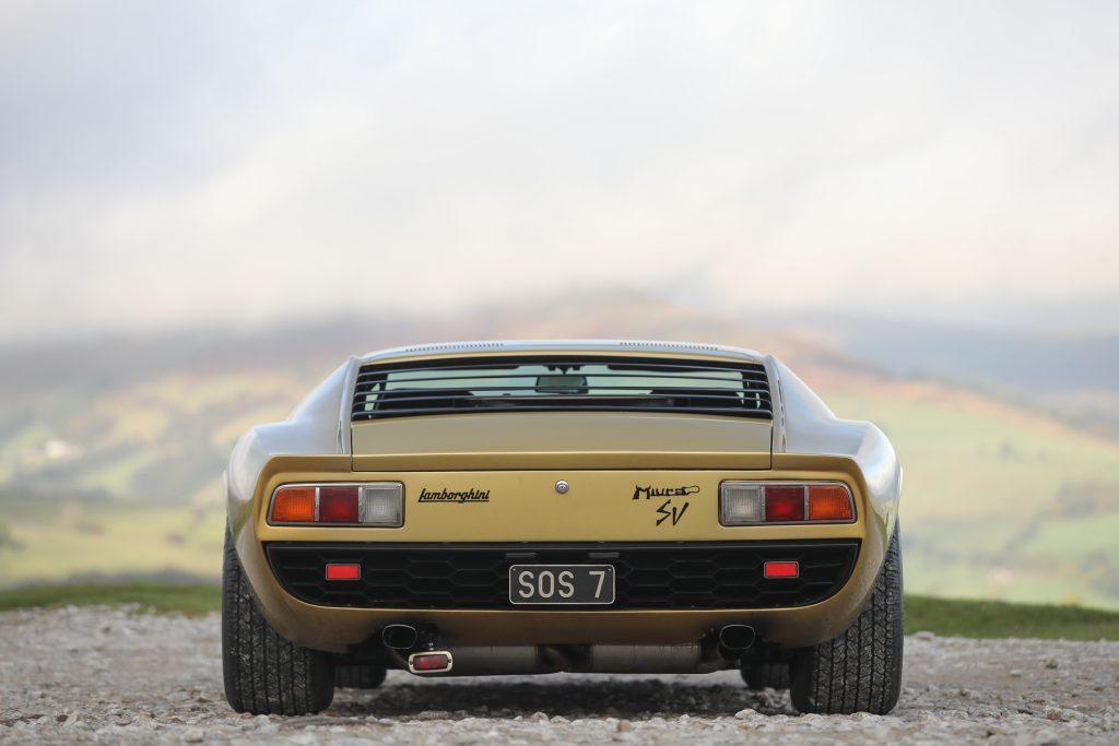 1971 Lamborghini Miura P400 SV Speciale rear