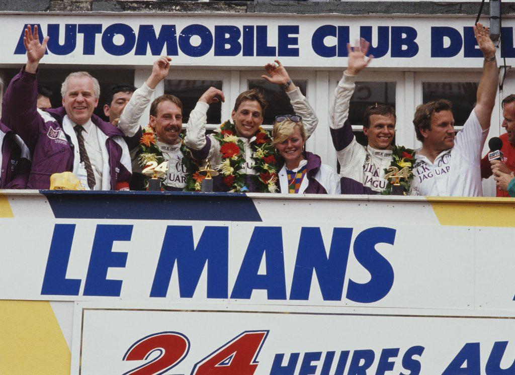24 Hours of Le Mans jaguar twr FIA victory celebration