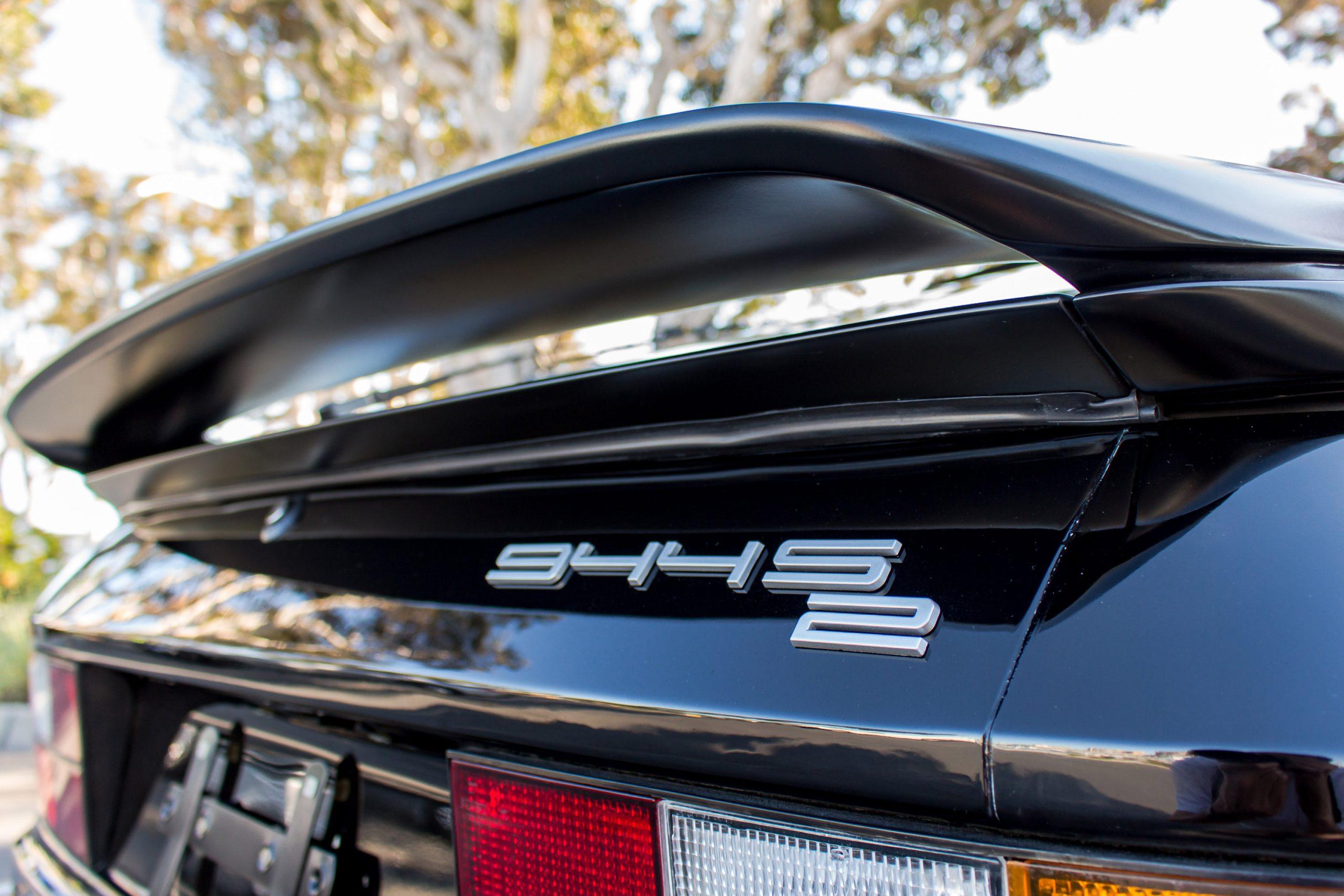 1991 Porsche 944 S2 Coupe rear spoiler logo