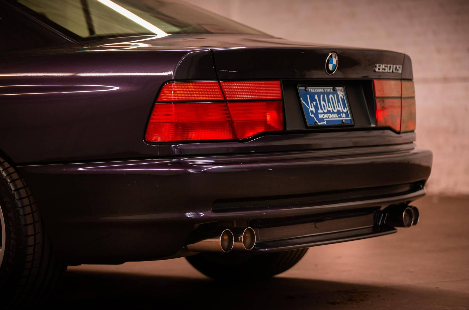 1995 BMW 850CSi rear fascia