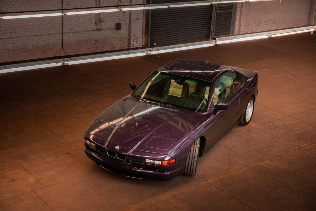 1995 BMW 850CSi overhead front three-quarter