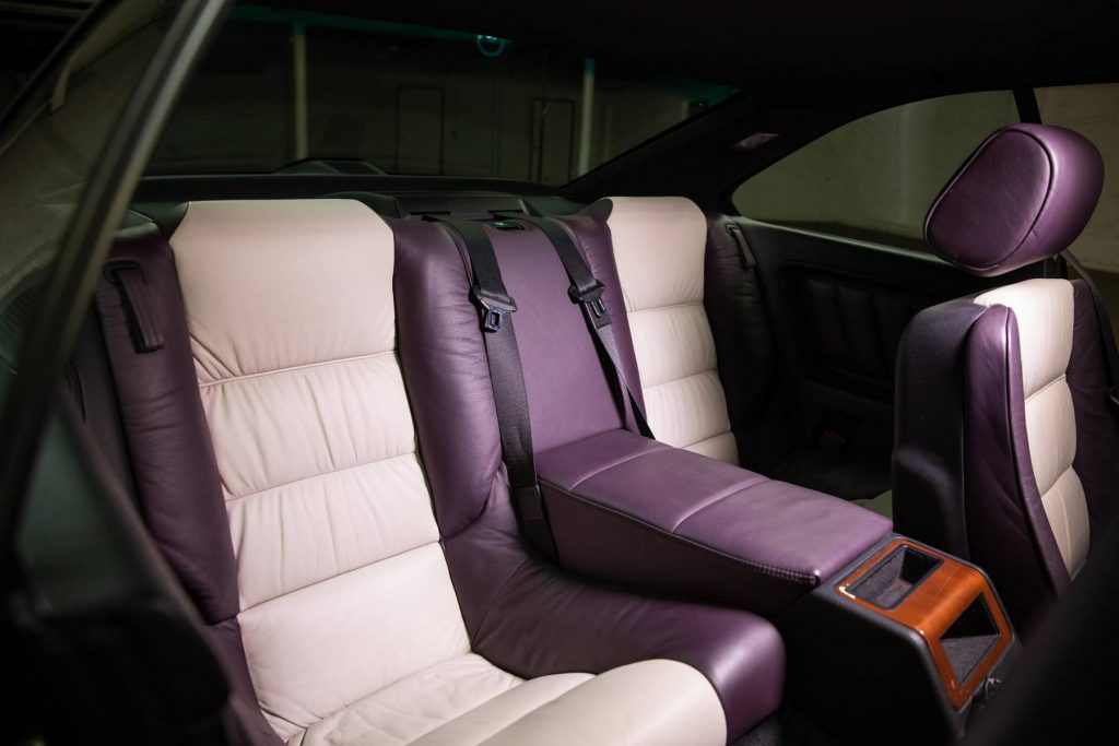 1995 BMW 850CSi rear seats