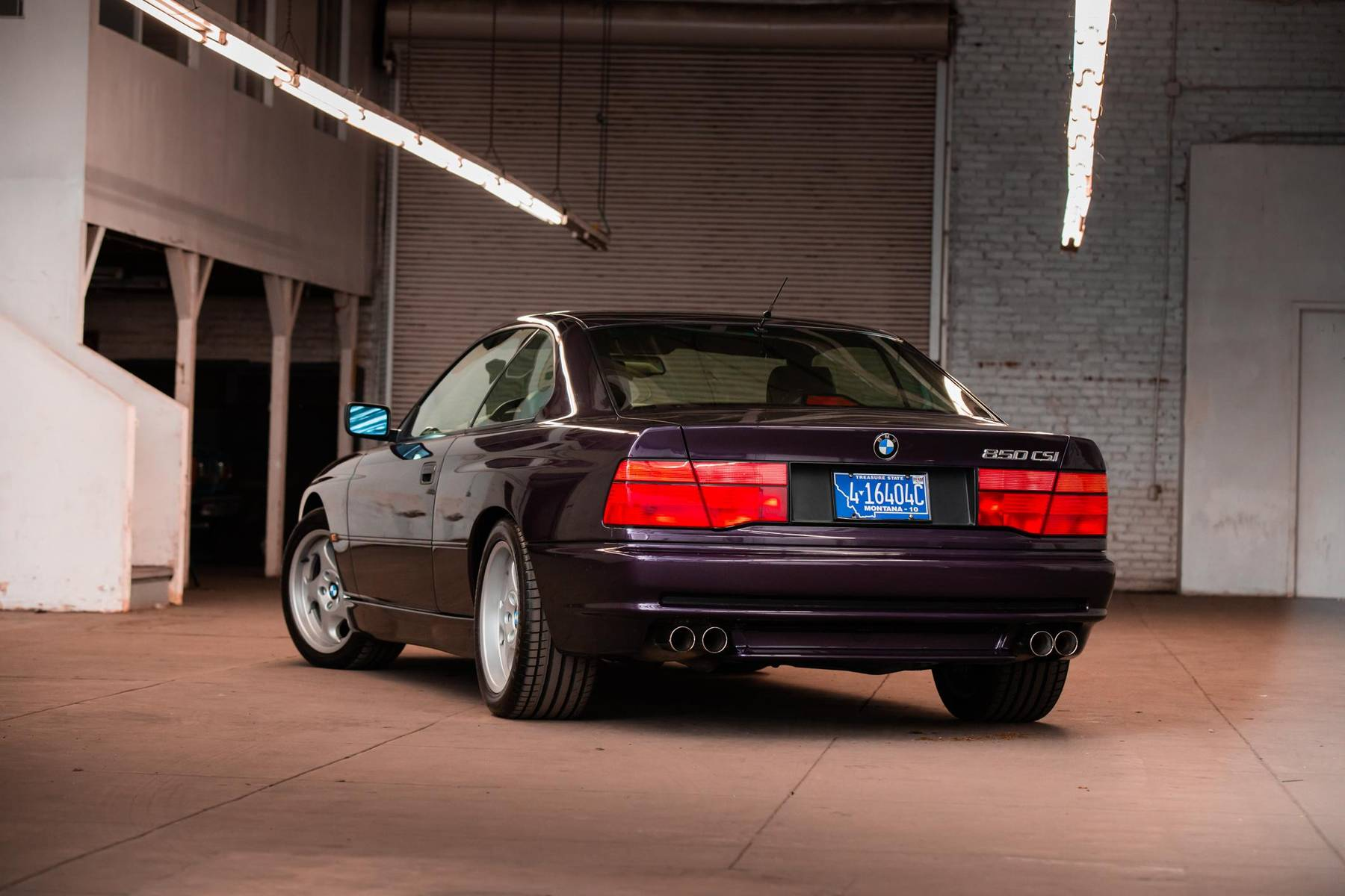 1995 BMW 850CSi rear three-quarter