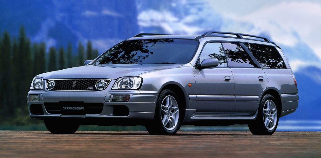 1996 nissan stagea wagon front three-quarter