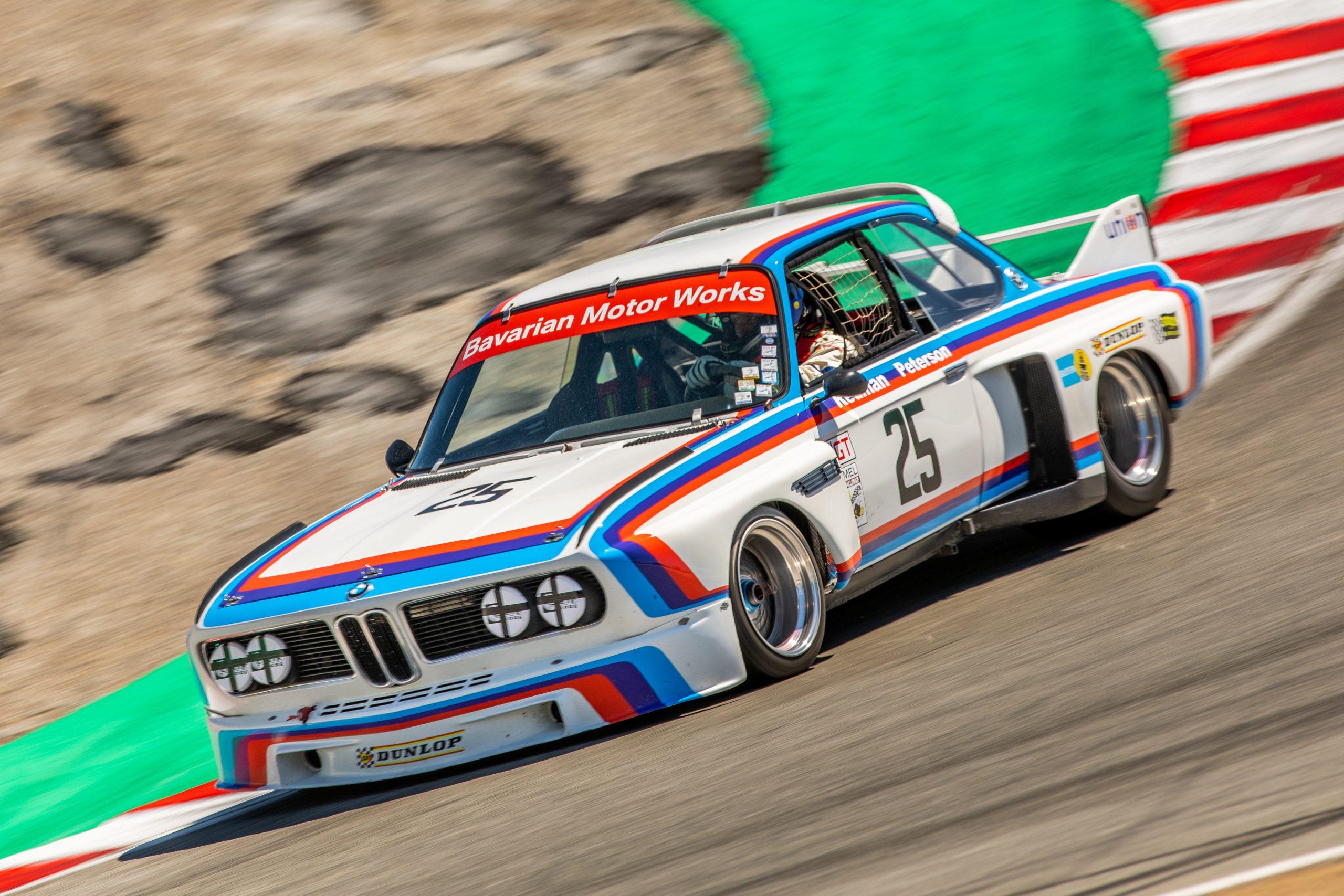 """BMW 3.0 CSL """"Batmobile"""" Corkscrew Laguna Seca"""