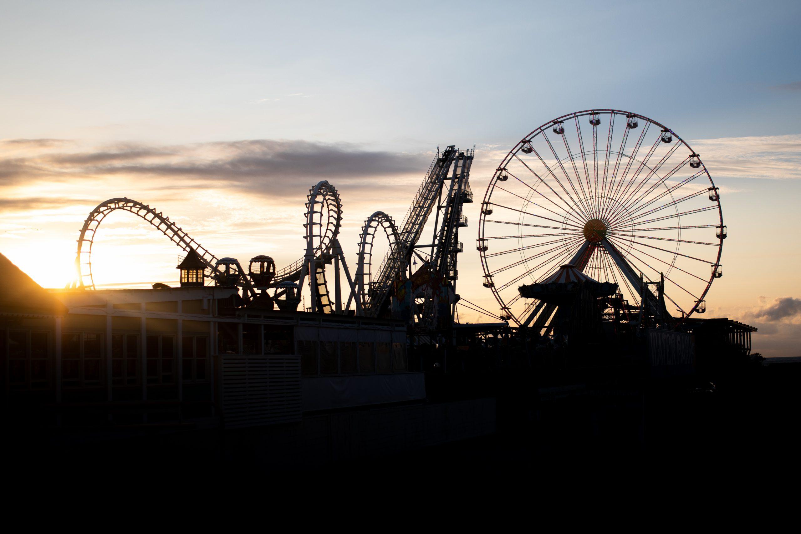 jersey shore carnival ride boardwalk silhouette