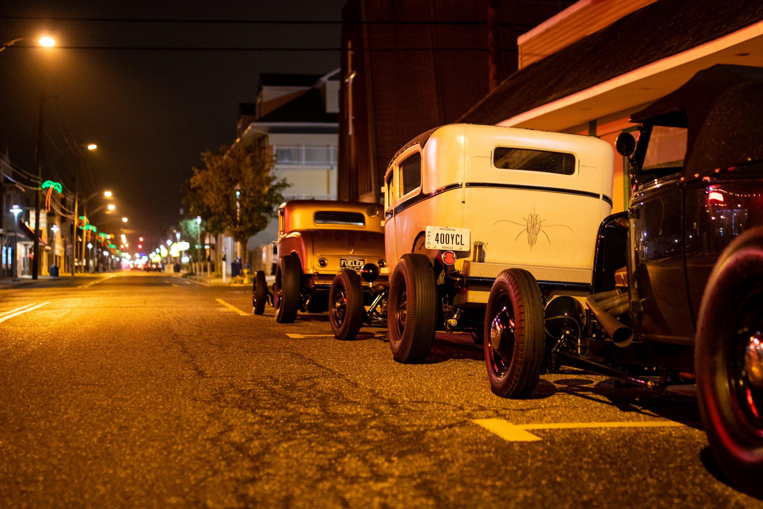 hot rod street night time