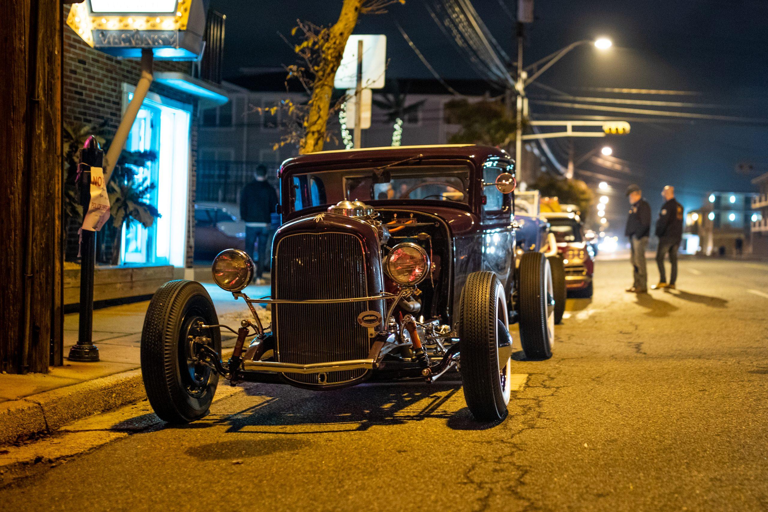 hot rod night street front