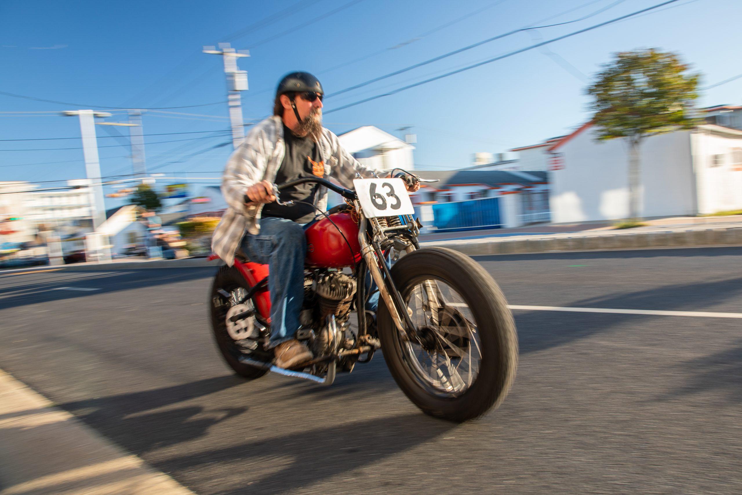motorbike street action