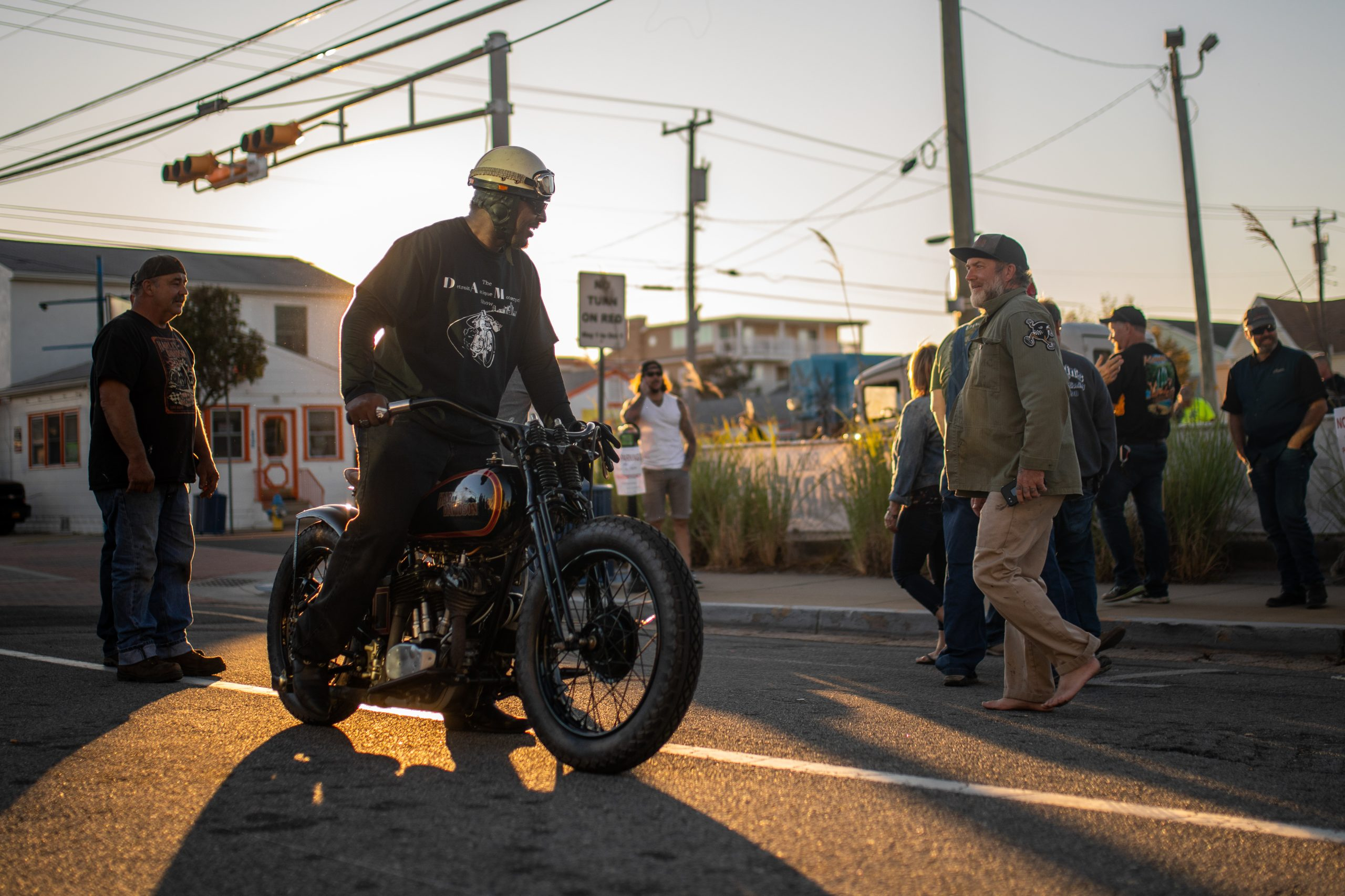 motorbike morning light