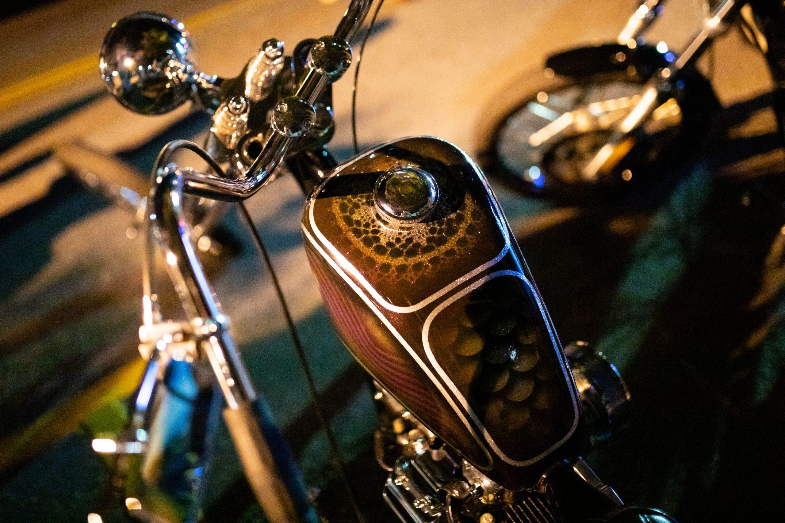 motorbike close up tank detail