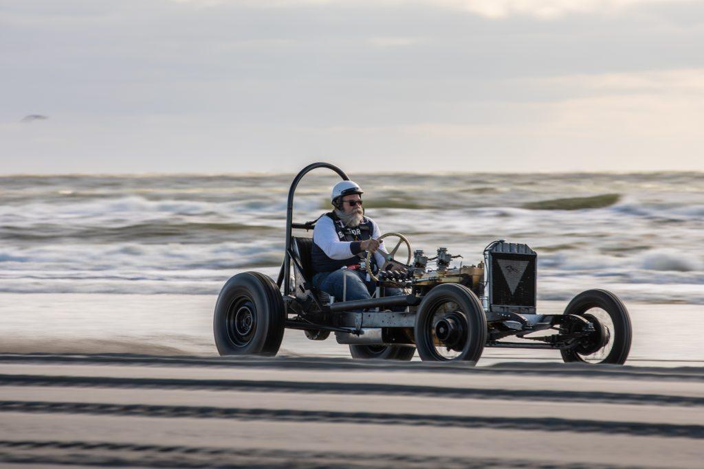hot rod beach drag racing action