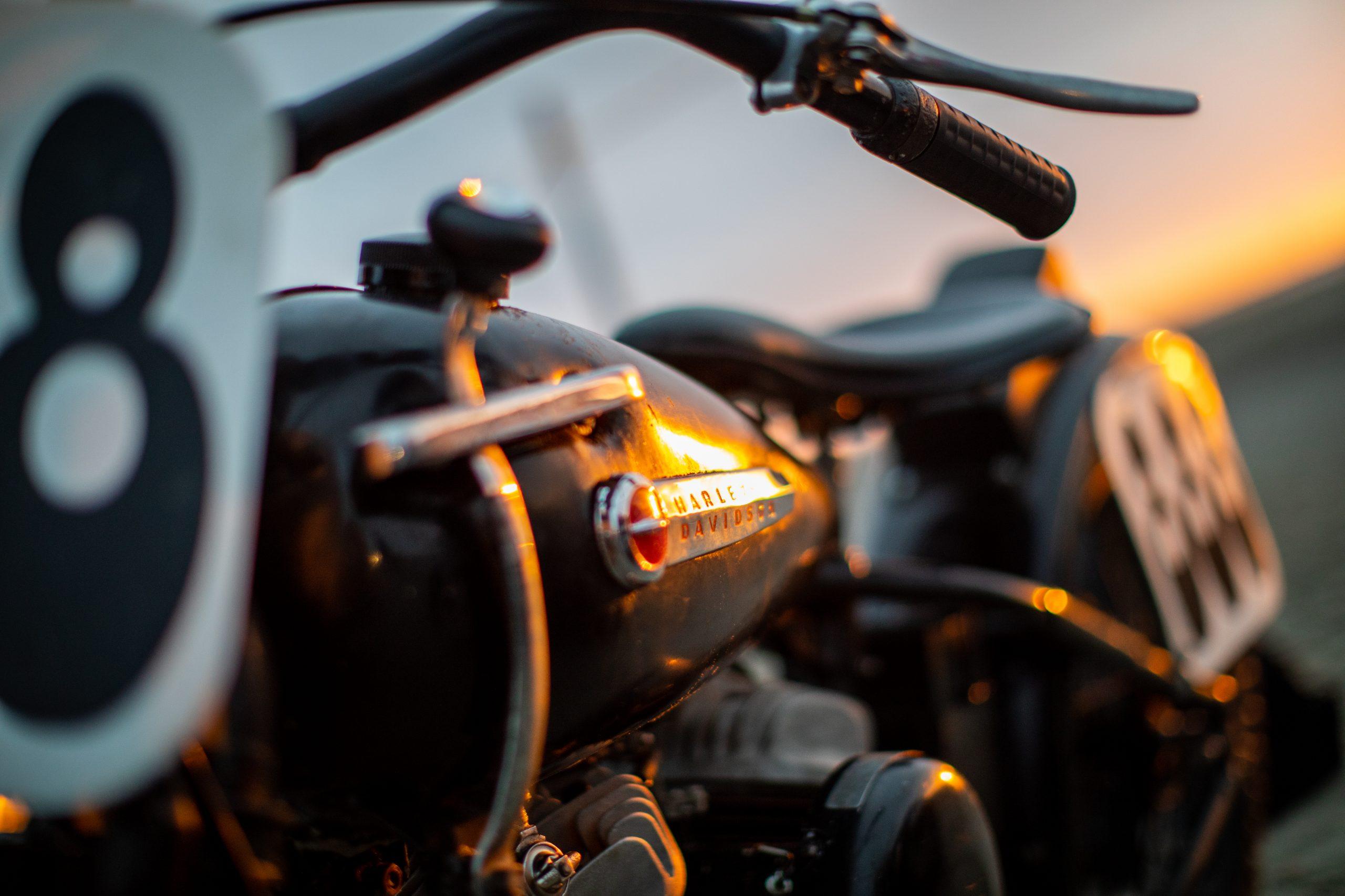 motorbike drag racer bike detail
