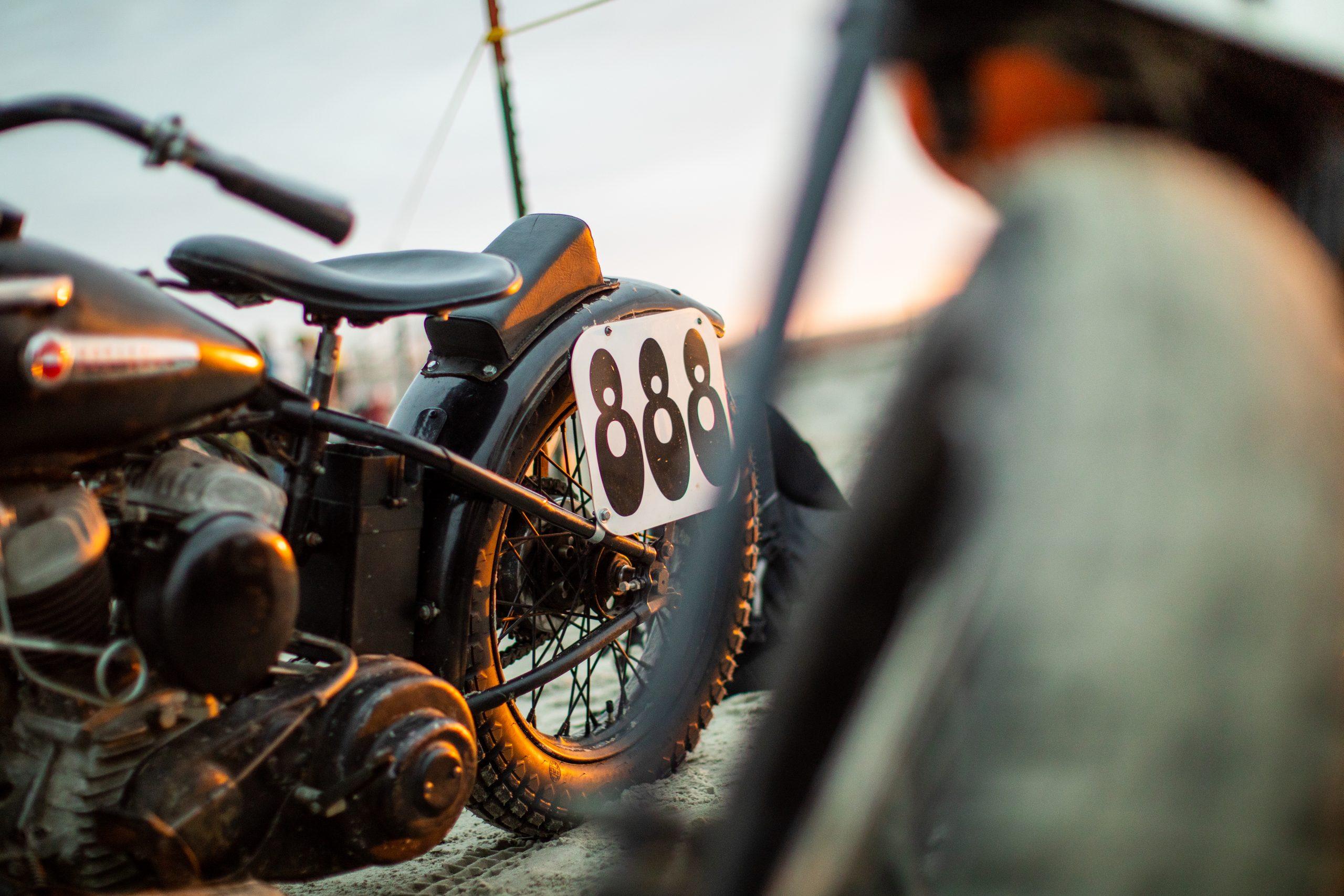 motorbike drag racer number 888