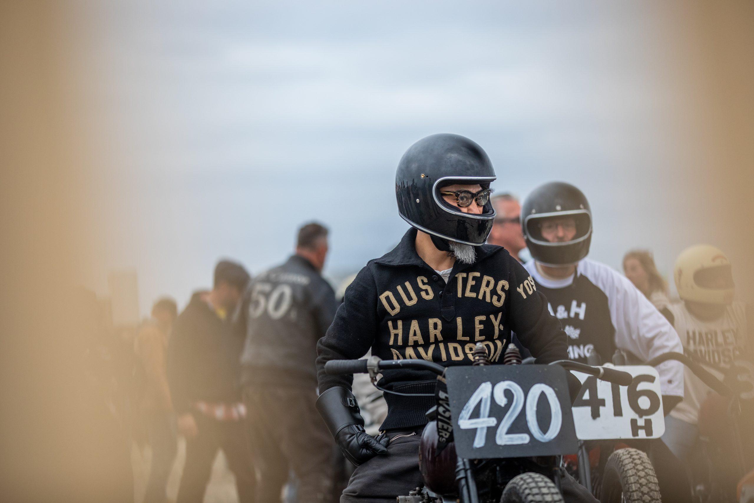 motorbike beach drag racer