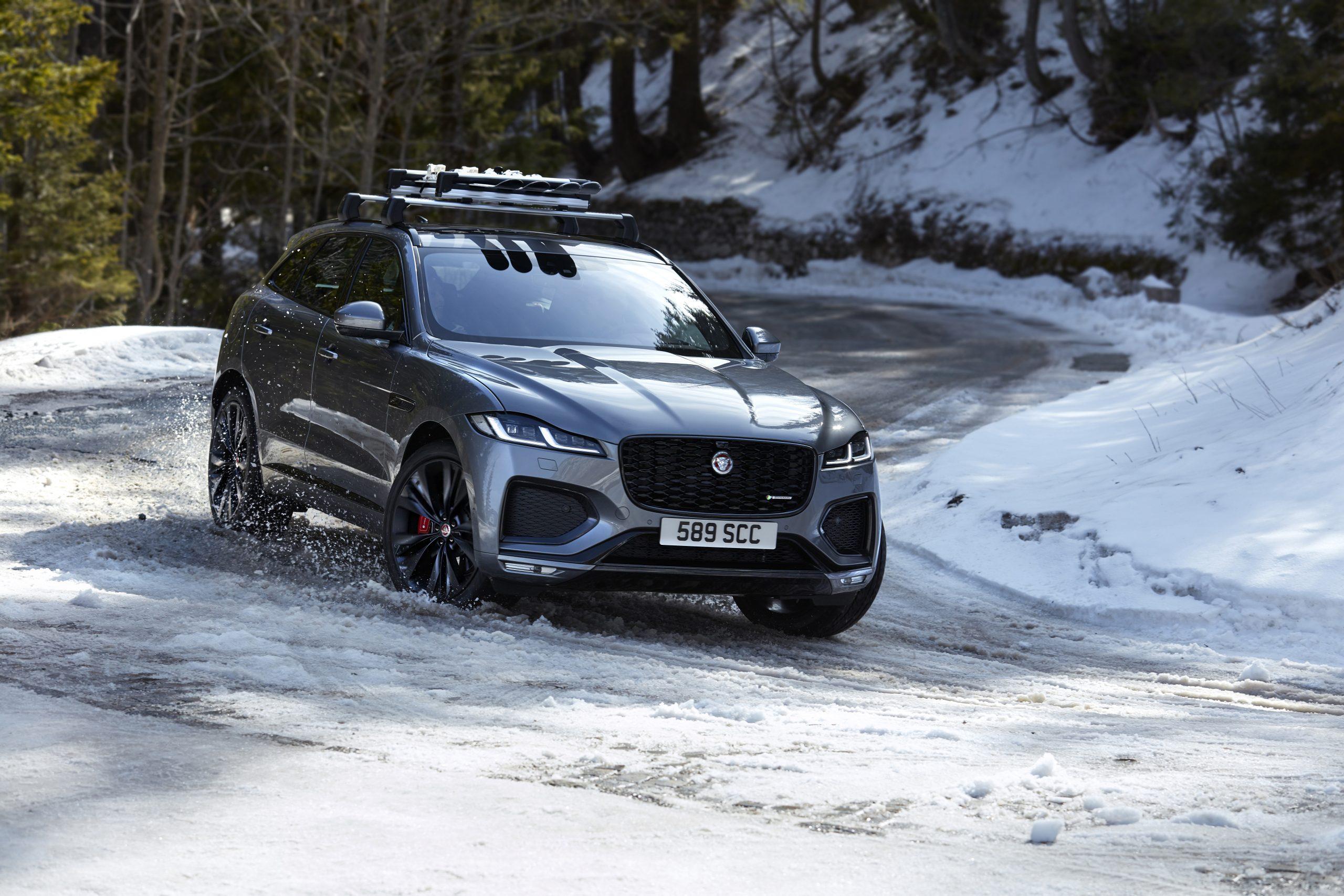 2021 Jaguar F-PACE exterior snow