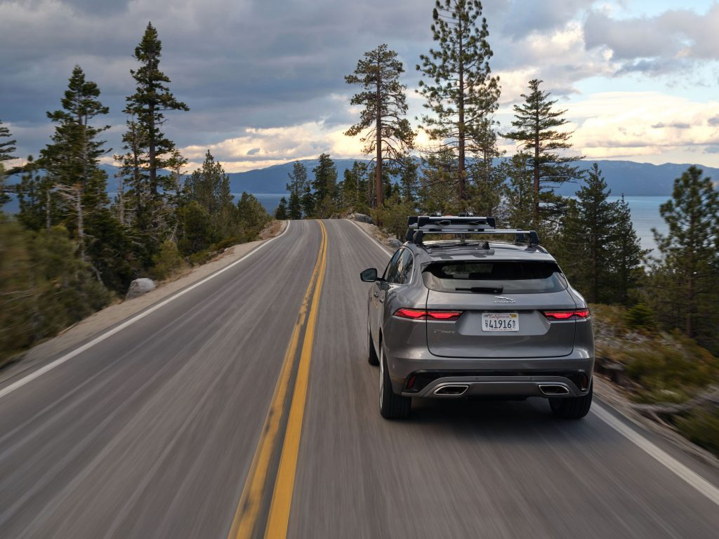 2021 Jaguar F-PACE exterior driving highway