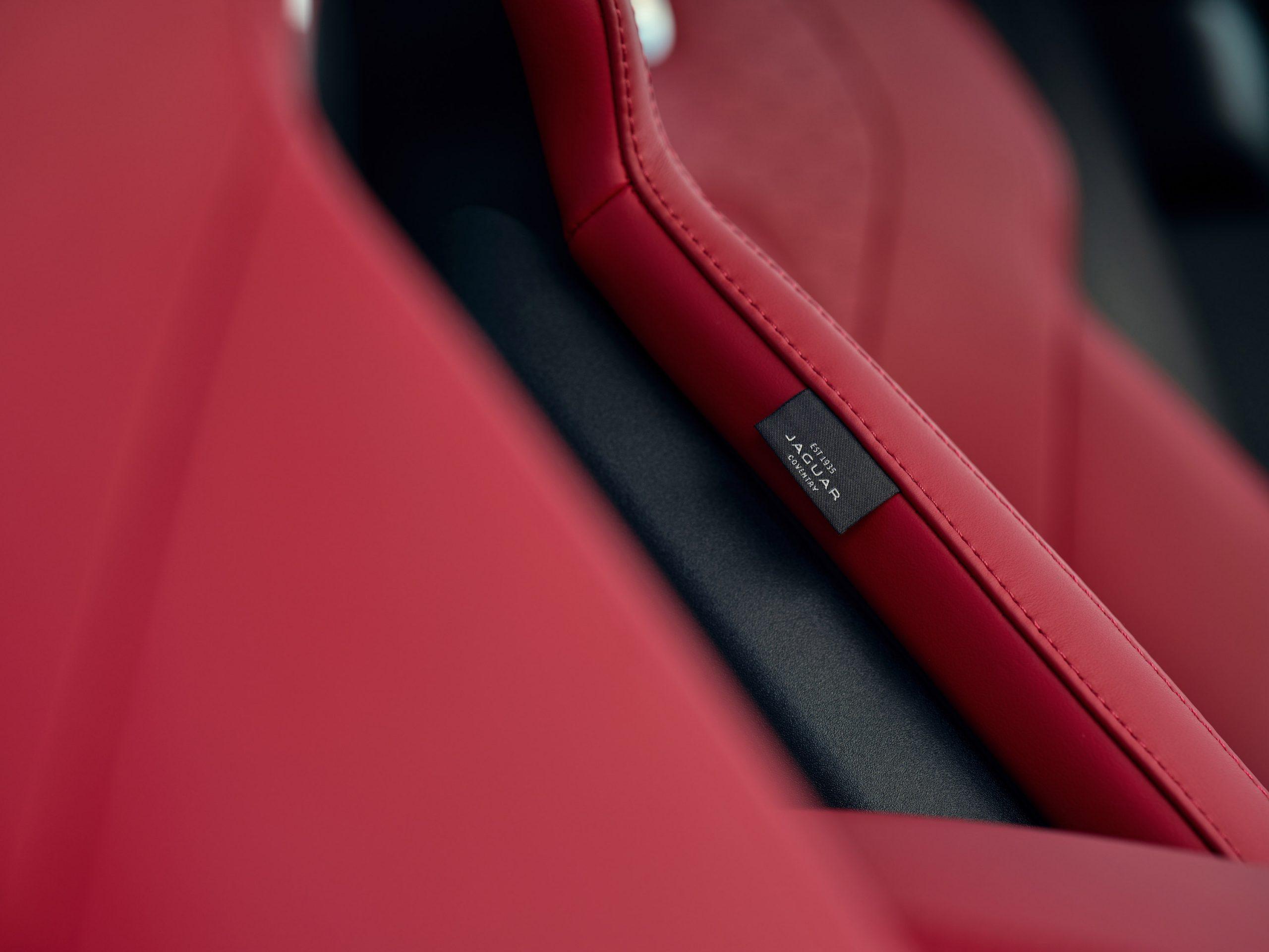 2021 Jaguar F-PACE interior seat leather detail