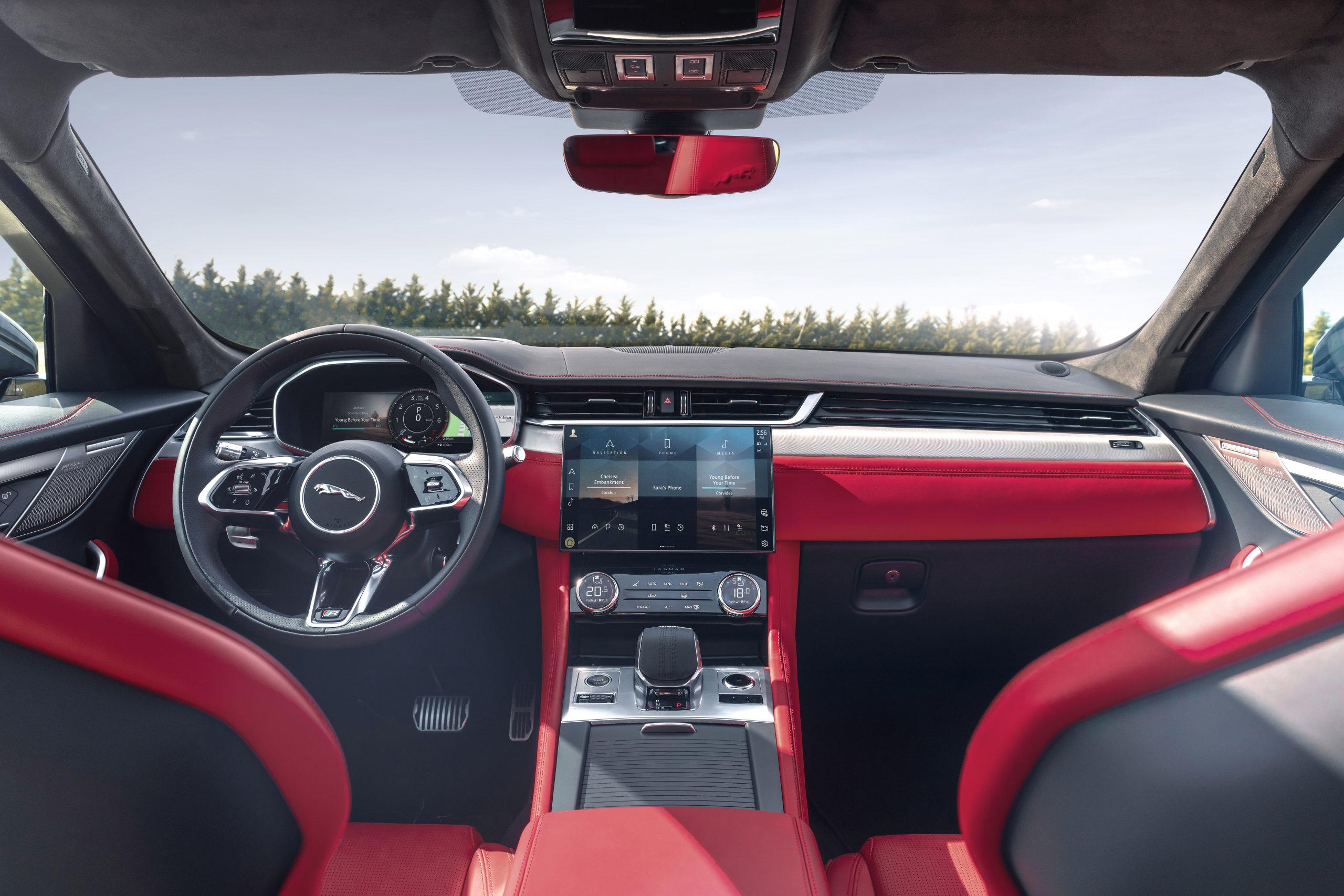 2021 Jaguar F-PACE interior center console