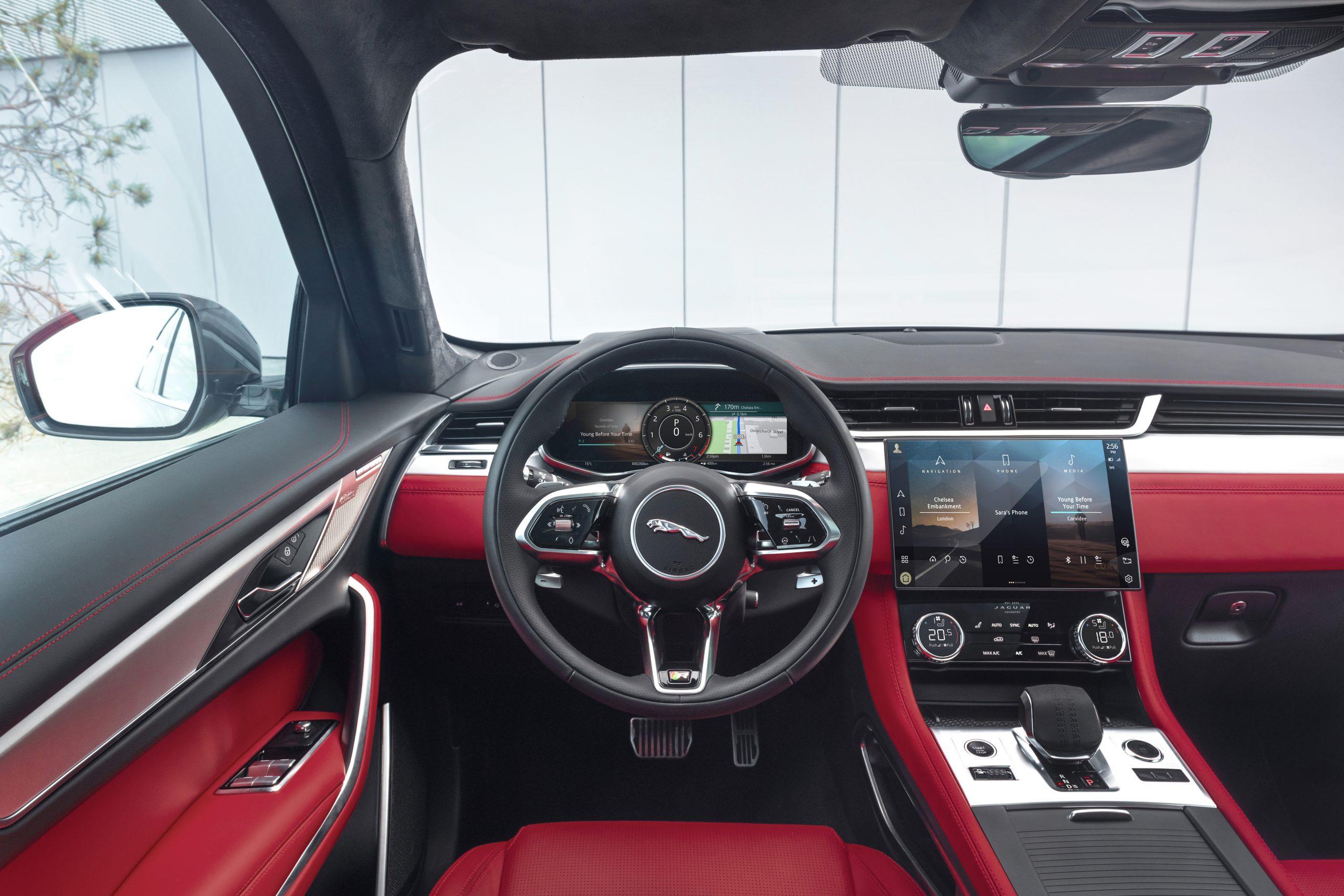 2021 Jaguar F-PACE interior driver seat