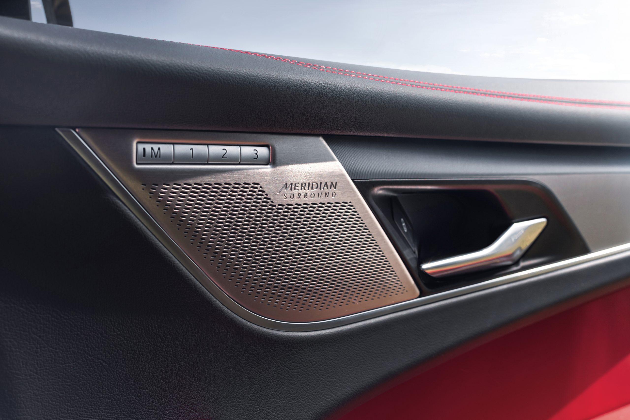 2021 Jaguar F-PACE interior detail speaker