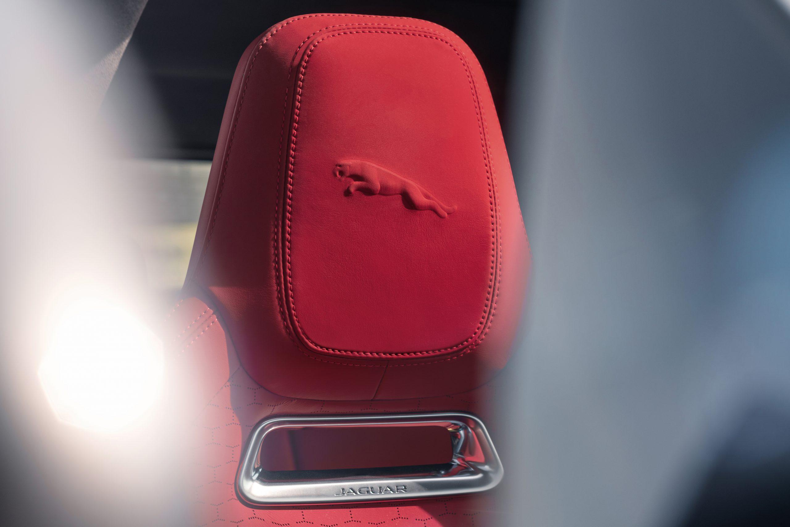 2021 Jaguar F-PACE head rest seat detail leaper