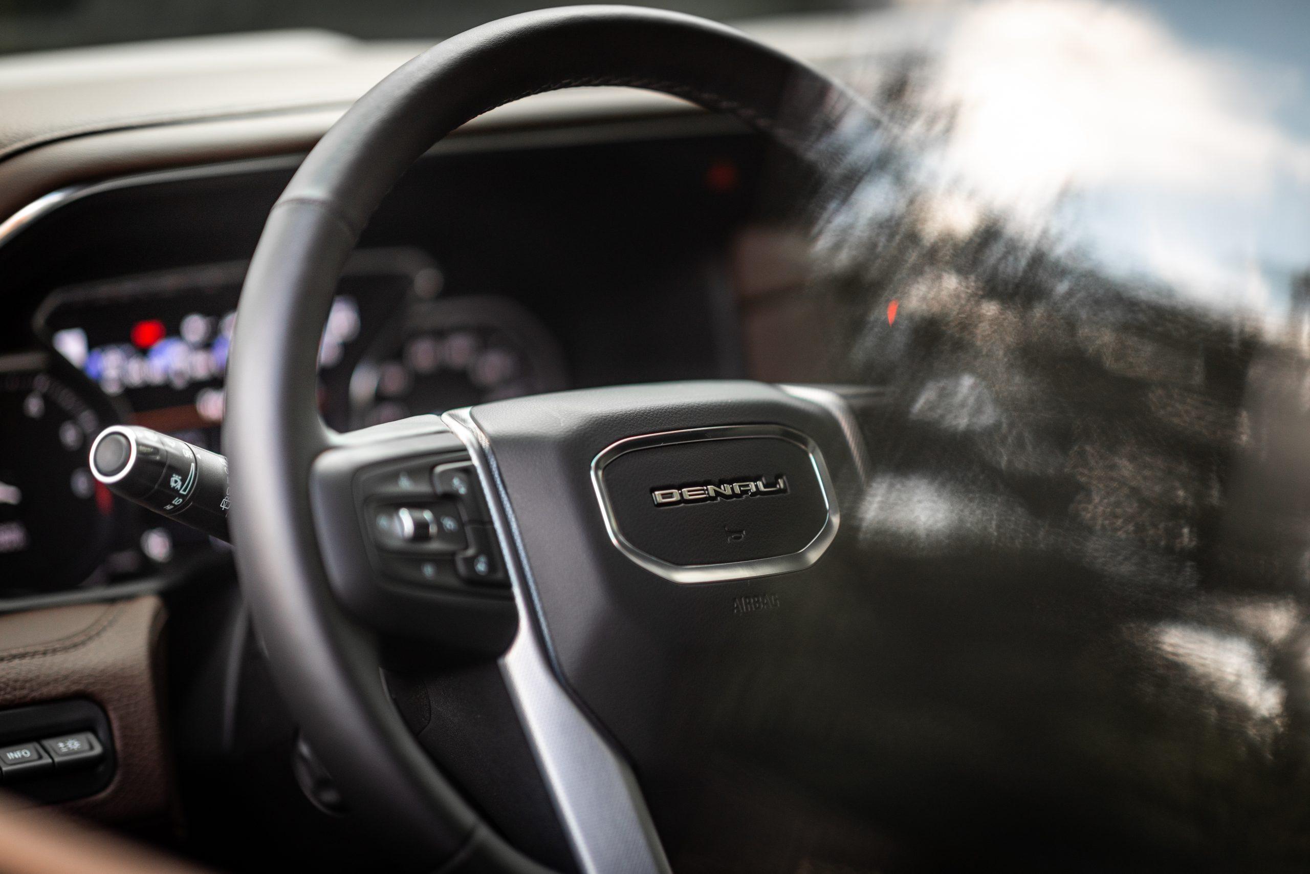 2021 Yukon Denali Steering wheel from drivers window