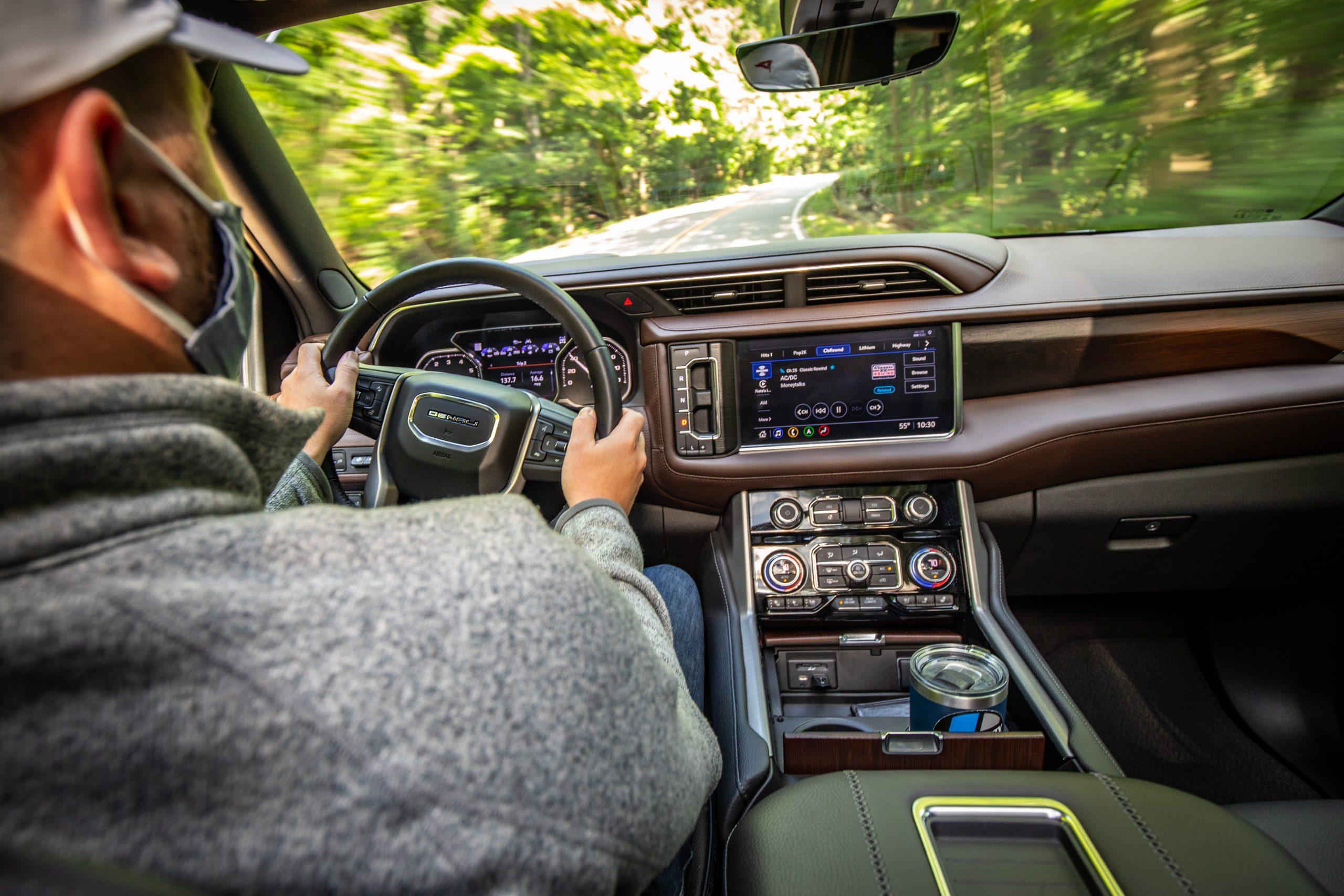 2021 Yukon Denali interior driving shot