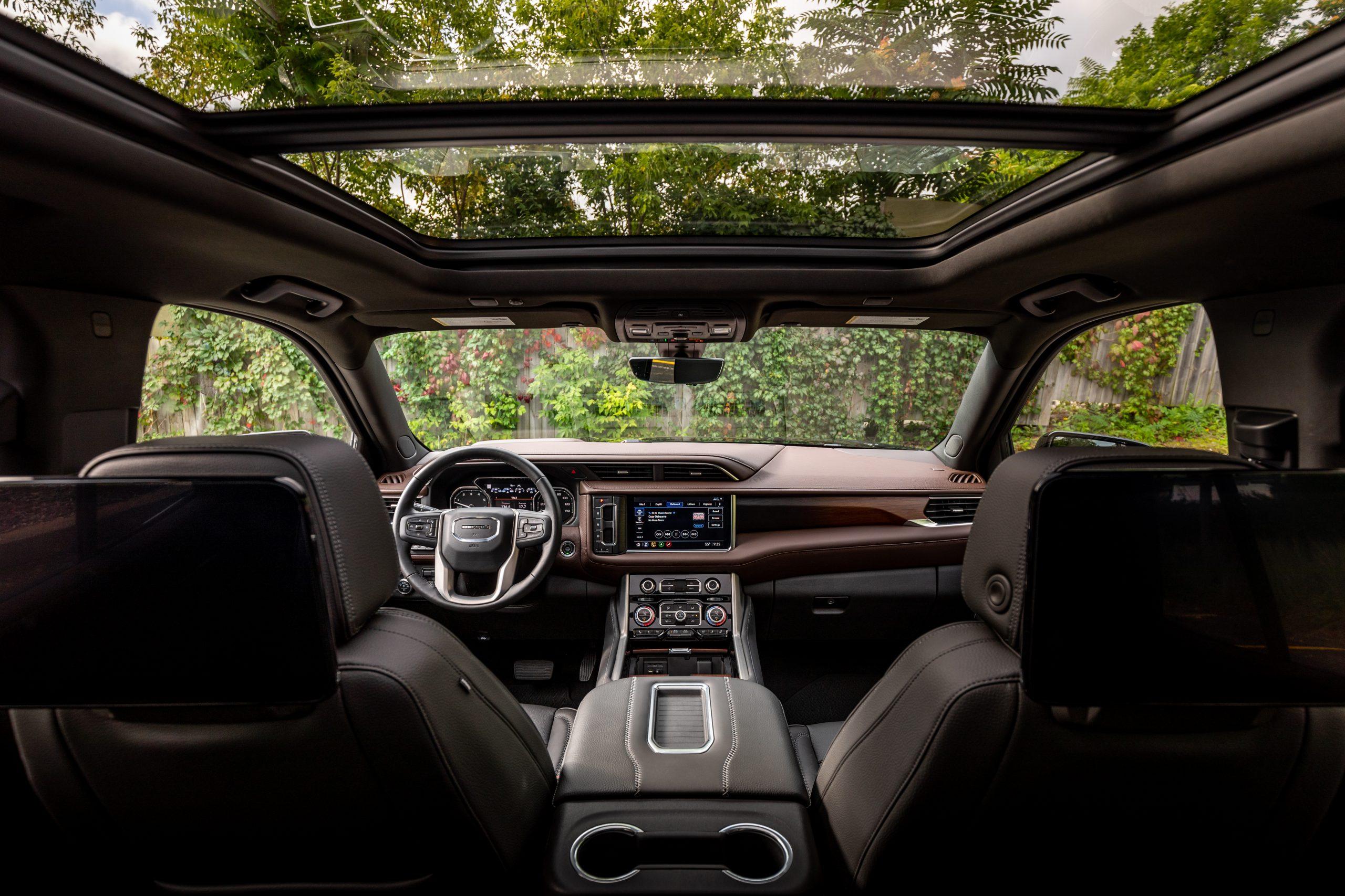 2021 Yukon Denali second row interior view