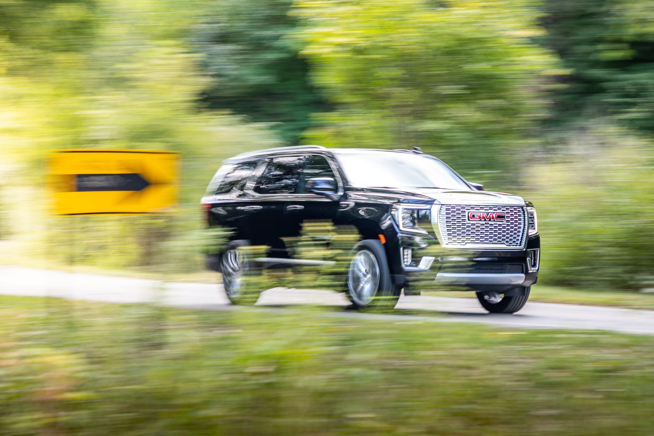 2021 Yukon Denali fancy driving shot