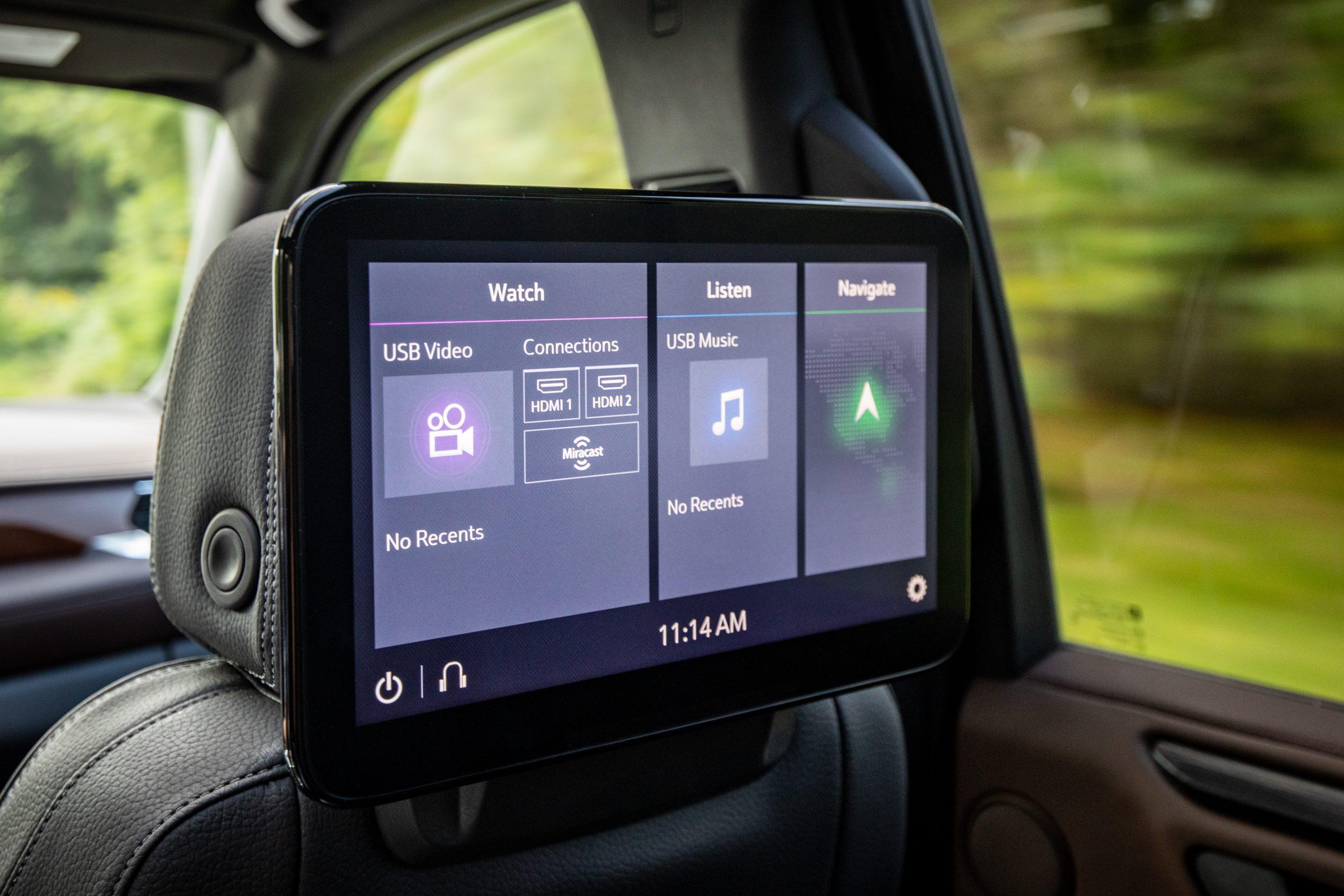 2021 Yukon Denali rear seat entertainment screens