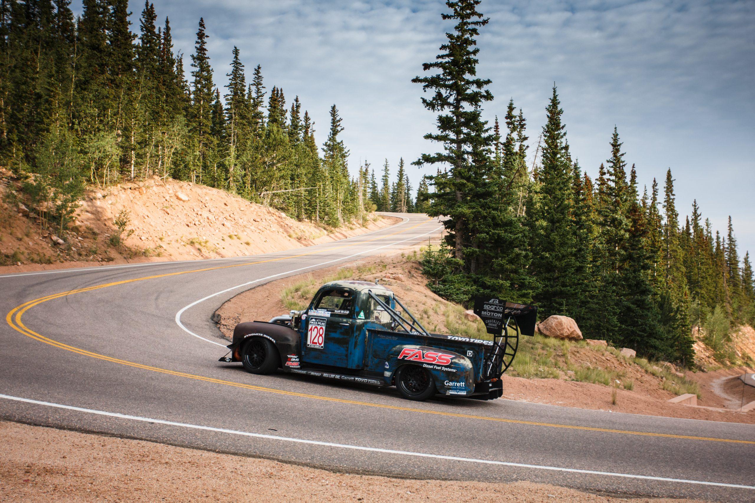 pikes peak international hill climb truck dynamic action