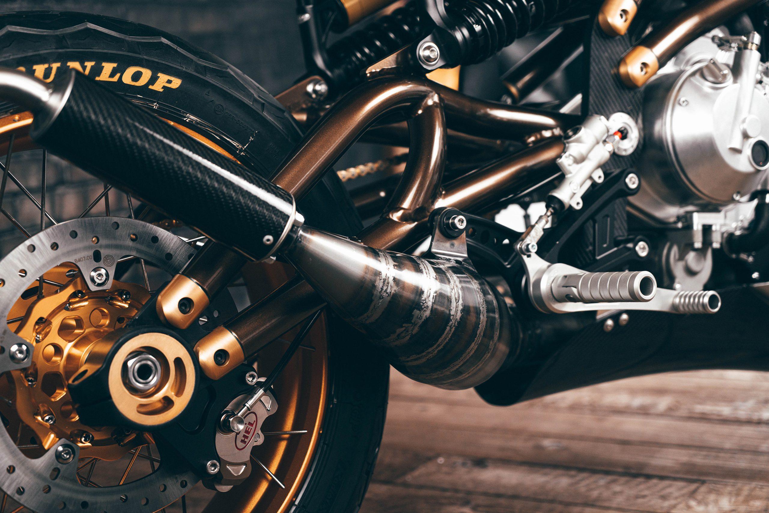 Langen Motorcycles Two Stroke tailpipe