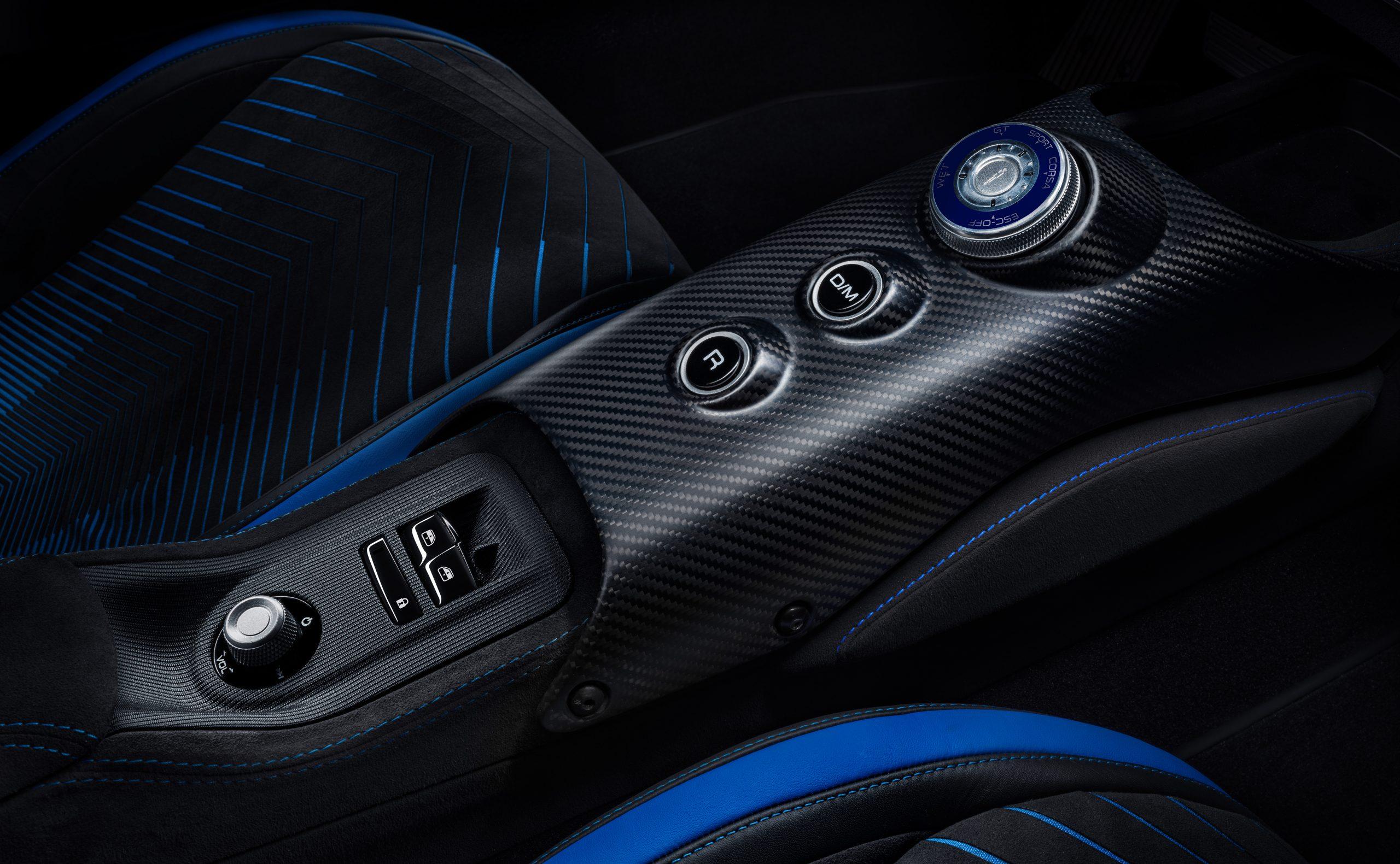 Maserati MC20 interior buttons control carbon-fiber