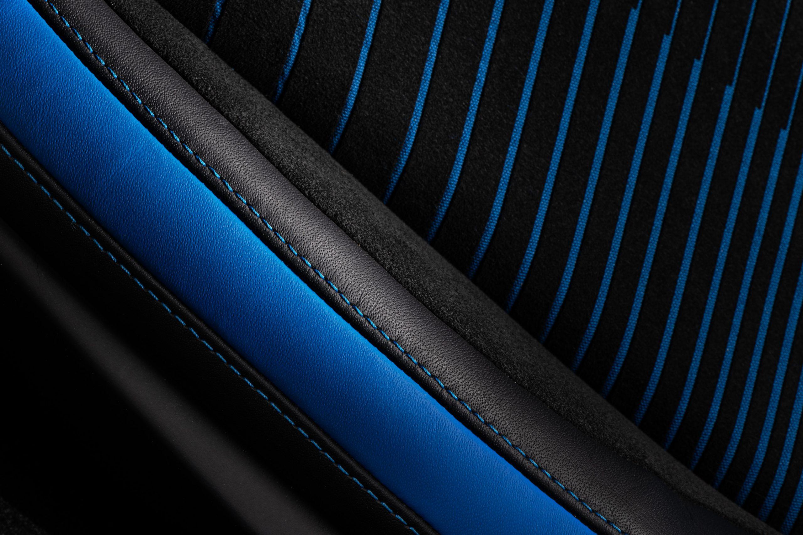 Maserati MC20 interior leather seat alcantara