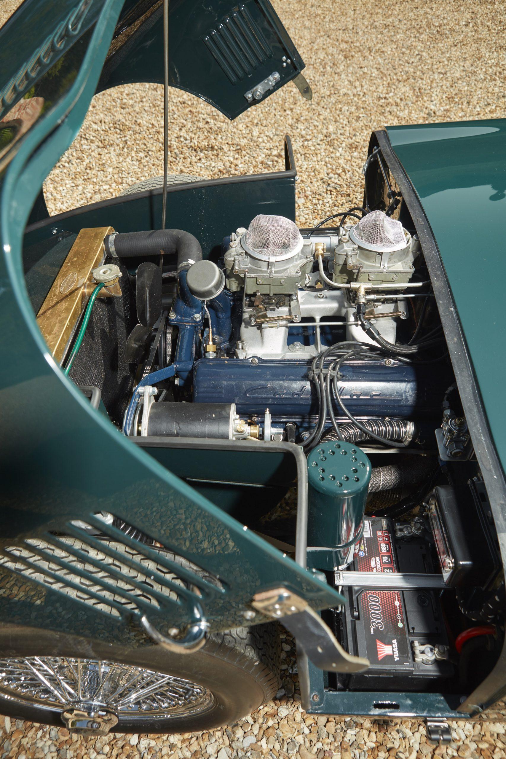 Allard Motor Company JR Continuation engine vertical