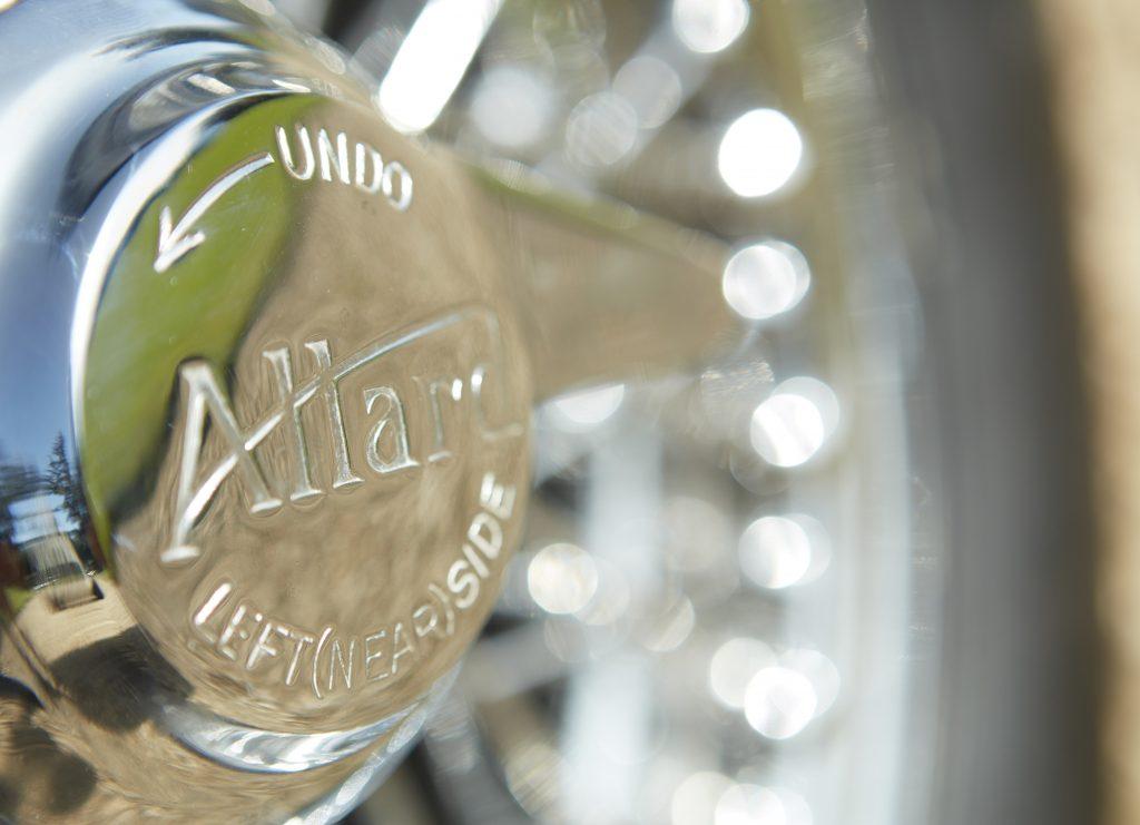 Allard Motor Company JR Continuation wheel hub detail
