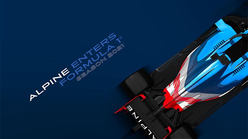 Alpine F1 announcement graphic