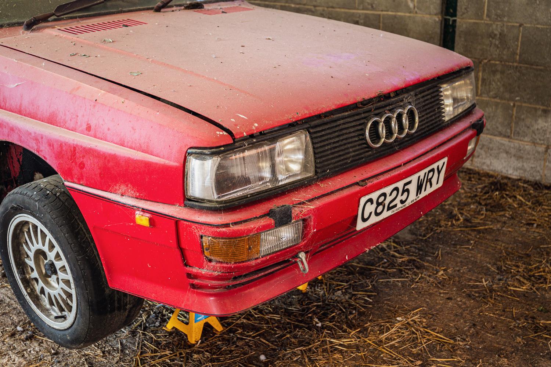 Audi Quattro barn find front fascia