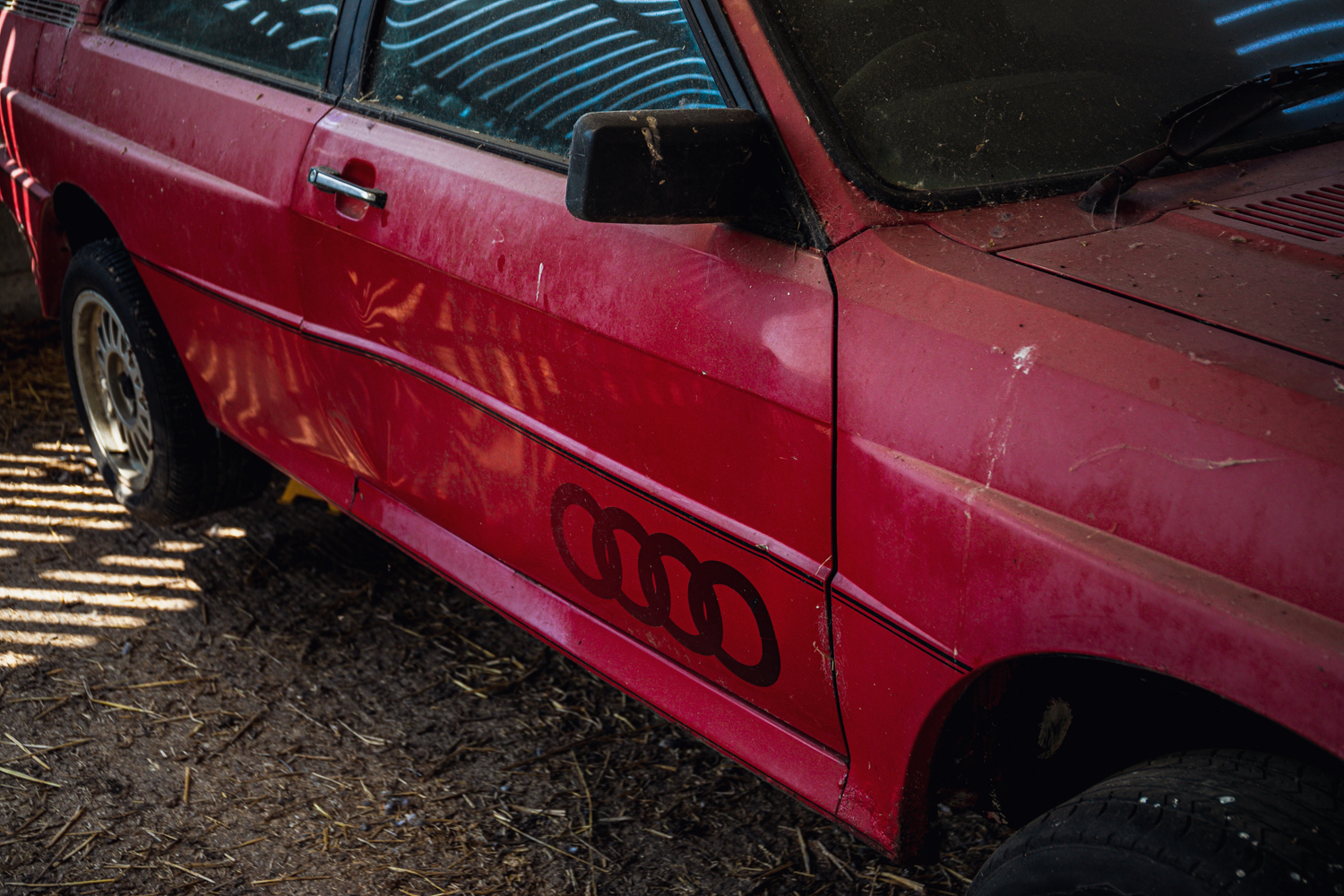 Audi Quattro barn find side panel rings