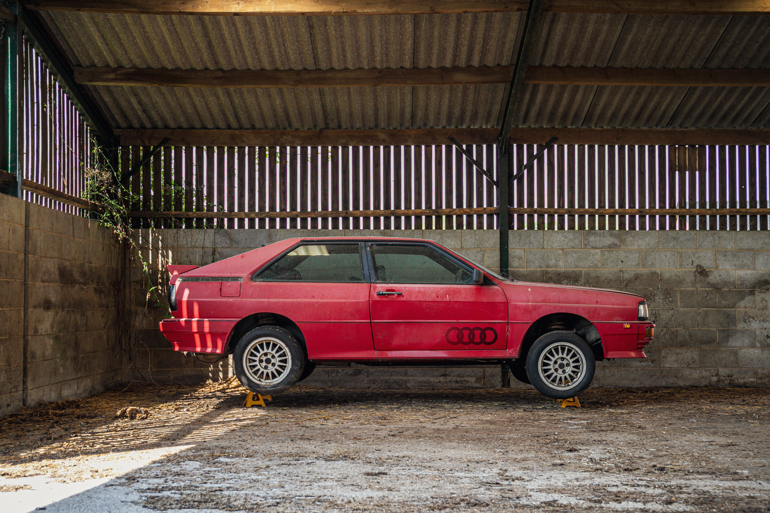 Audi Quattro barn find side profile